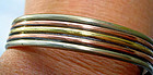 Vintage Mixed Metal Cuff Bracelet Curvy Design MEXICO