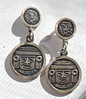 Taxco Mexico Sterling Dangle Earrings Fully Hallmarked