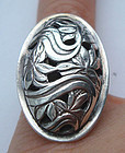 Sterling Silver Floral Foliate Design Ring Maker