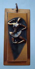 GREAT Copper Flamenco Dancer Pendant Spanish