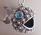 Sterling Silver Puffer Fish Blow Fish Pendant MEXICO
