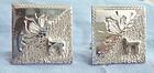 Fine Sterling Silver Chai Cuff Links Decorative