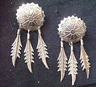 Taxco Mexico Silver Dangle Earrings Maker
