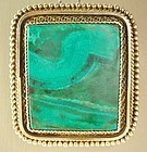 Large Vermeil Silver Eilat Pendant / Pin Signed ISRAEL