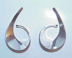 Tone Vigeland Sterling Modernist Earrings NORWAY