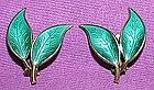 David Andersen Sterling Vermeil Enamel Earrings NORWAY