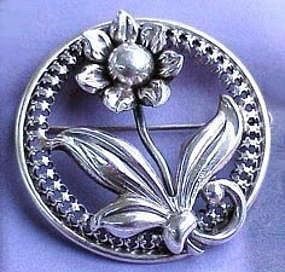 Danecraft Sterling Silver Brooch c. 1940�s