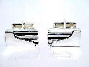 Sigi Modernist Cuff Links Sterling TAXCO