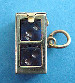Vintage 14k dice box charm with 2 dice opens moves item for Jewelry store needham ma
