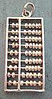 Vintage Sterling Abacus Bracelet Charm Moves Works