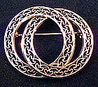 Filigree Brooch 12K Gold Filled Signed WINARD Lovely