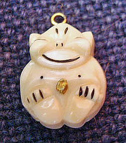 Vintage billiken 14k gold and ivory charm pendant item for Jewelry store needham ma
