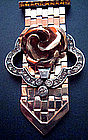 Dorsons Clip Rose Gold Fill Sterling Rhinestone 1940