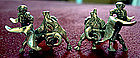 Vintage Sterling Screwback Earrings Bullfighting MEXICO