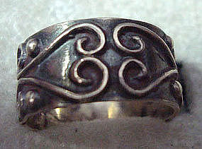 Sterling Silver Taxco Mexico Ring Great Design
