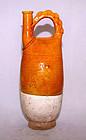 Chinese Liao Amber Glazed Flask - Liao 907 - 1125 AD