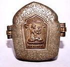 Tibetan Silver Portable Prayer Box