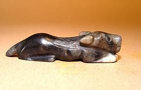Chinese Jade Recumbent Dog - Qing Dynasty