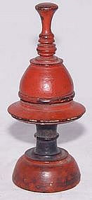 Mini Old Burmese Lacquered Covered Receptacle