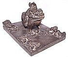 Chinese Weight w/Little Boy Riding a Foo Dog - 18th C.