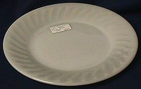 Fire King Swirl White Salad Plate