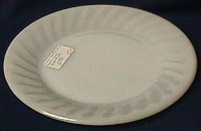 Fire King Swirl White Dinner Plate