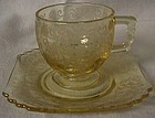 Fostoria Minuet Topaz After Dinner Cup and Saucer