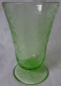 Florentine Number 2 Green Water Tumbler Hazel Atlas