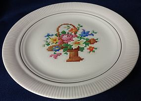 Victory Basket Dinner Plate Salem China