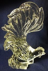 Fighting Roosters Crystal Heisey Glass Company