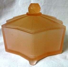 Lotus Pink Frosted Powder Jar 5.75