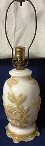 Aladdin G255 Alacite Decorated Tan Electric Lamp