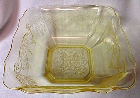 "Lorain Yellow Deep Berry Bowl 8"" Indiana Glass Company"