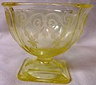 Lorain Yellow Sherbet Indiana Glass Company