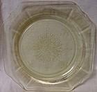 Princess Yellow Salad Plate 8