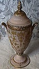 Cambridge Rose Point Crown Tuscan Gold Encrusted Urn