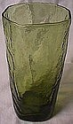 Morgantown Crinkle Green Tumbler
