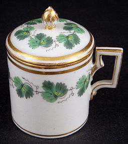 Antique Royal Vienna Pot de Cr�me Cup with Lid