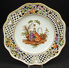 Beautiful Antique Dresden Scenic Cabinet Plate