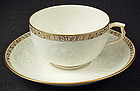 Elegant Antique KPM Coffee Cup & Saucer