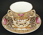 Antique KPM Berlin Trembleuse Chocolate Cup & Saucer