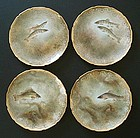 4 Antique Royal Doulton Fish Plates