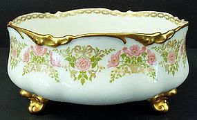 Lovely Antique Nouveau Limoges Footed Bowl