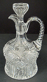 Antique American Brilliant Cut Crystal Decanter