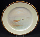 "Fabulous Antique Lenox Cabinet Plate, ""Rail"" Bird"