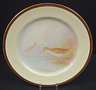 "Fabulous Antique Lenox Cabinet Plate, ""Snipe Bird"""