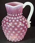 Antique Cranberry Sandwich Glass Pitcher