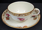 Lovely Antique KPM Berlin Tea Cup & Saucer