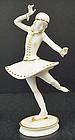 Delightful Deco Hutschenreuther Ice Skater Figurine