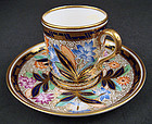 Antique Copeland Imari Style Coffee Cup & Saucer